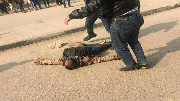 لحظة إطلاق النار على مهاجم كنيسة مارمينا في مصر