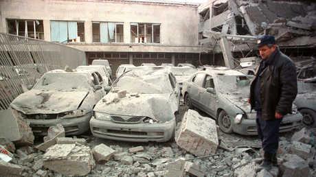 غارة جوية للناتو على بلغراد في مايو/أيار 1999