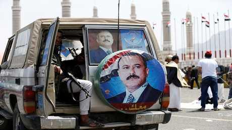 مؤيدون للرئيس اليمني السابق علي عبد الله صالح، صنعاء، اليمن 22 أغسطس 2017