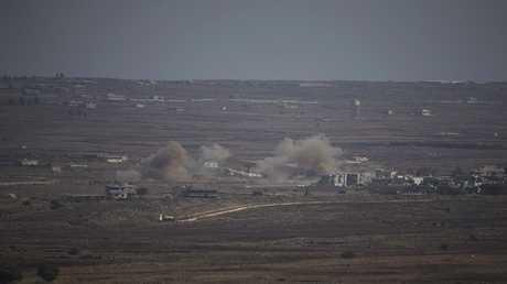 أرشيف - انفجارات في سوريا بالقرب من مرتفعات الجولان المحتلة في 23 سبتمبر 2014