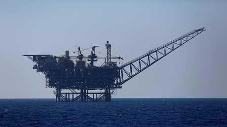 منصة بحرية إسرائيلية لاستخراج الغاز في المتوسط