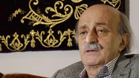 زعيم  الحزب التقدمي الاشتراكي اللبناني وليد جنبلاط