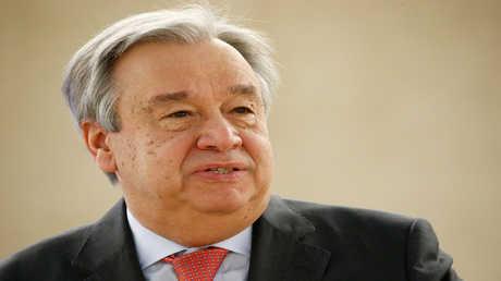 الأمين العام لمنظمة للأمم المتحدة أنطونيو غوتيريش