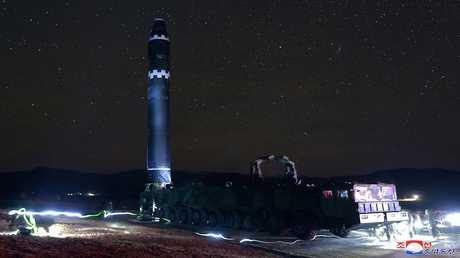 الصاروخ الباليستي العابر للقارات هواسونغ -15، 30 نوفمبر 2017