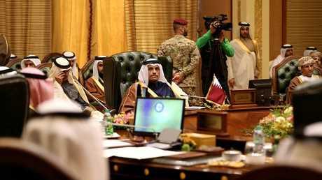 وزير الخارجية القطري يحضر اجتماع نظرائه من دول مجلس التعاون بالكويت
