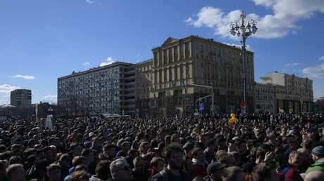 تظاهرات المعارضة الروسية في موسكو