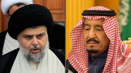 مقتدى الصدر والملك سلمان بن عبد العزيز آل سعود