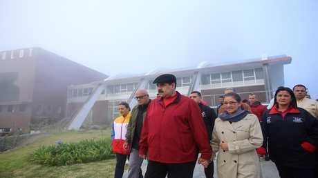 الرئيس الفنزويلي، نيكولاس مادورو، وزوجته  سيليا فلوريس