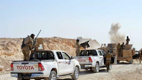 القوات العراقية في صحراء الأنبار