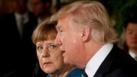 الرئيس الأمريكي دونالد ترامب والمستشارة الألمانية أنغيلا ميركل