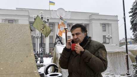 """الرئيس الجورجي السابق ميخائيل ساكاشفيلي، زعيم """"حركة القوى الجديدة"""" المعارضة في أوكرانيا"""
