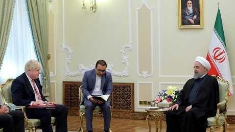 الرئيس الإيراني حسن روحاني يستقبل بوريس جونسون وزير خارجية بريطانيا
