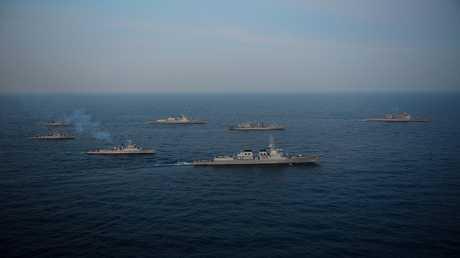 أرشيف - مناورات بحرية مشتركة بين الولايات المتحدة وكوريا الجنوبية
