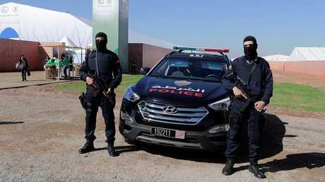 أرشيف - عناصر من الأمن المغربي في مهمة