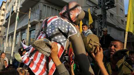 احتجاجات في غزة على قرار نقل السفارة الأمريكية في إسرائيل إلى القدس