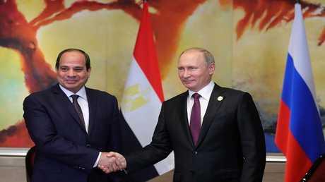 الرئيسان الروسي، فلاديمير بوتين، والمصري عبد الفتاح السيسي
