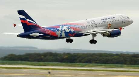 """طائرة تابعة لأسطول الخطوط الجوية الروسية """"آيرفلوت"""""""