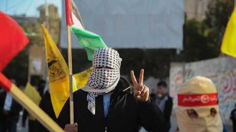 مظاهرات في قطاع غزة ضد اعتراف الولايات المتحدة بالقدس عاصمة لإسرائيل
