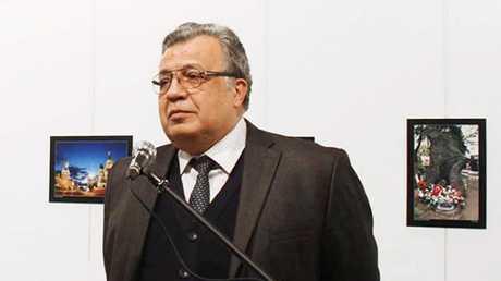 السفير الروسي المقتول في أنقرة أندريه كارلوف، 19/12/2016