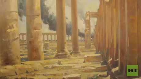 ريشة فنان روسي تروي زيارته لأرض سوريا
