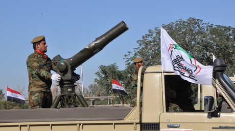 """عنصر من قوات """"الحشد الشعبي"""" العراقي"""