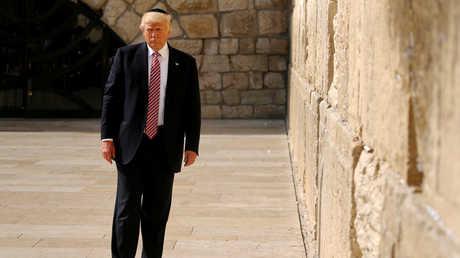"""دونالد ترامب يزور حائط المبكى """"البراق"""" - 22/06/2017"""