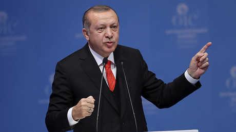 الرئيس التركي رججب طيب أردوغان