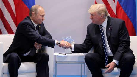 لقاء بين فلاديمير بوتين ودونالد ترامب - أرشيف
