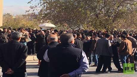 تظاهرات حاشدة في السليمانية إحتجاجا على سوء الأوضاع المعيشية