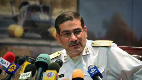 أمين المجلس الأعلى للأمن القومي الإيراني علي شمخاني