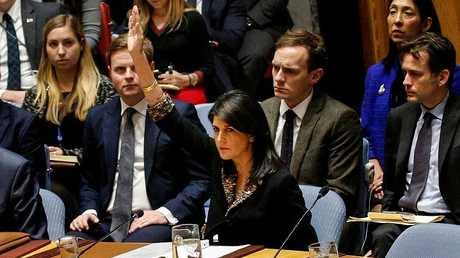 مندوبة الولايات المتحدة لدى مجلس الأمن نيكي هايلي