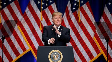 الرئيس الأمريكي دونالد رتابم يعلن استراتيجية الأمن القومي، 18/12/2017