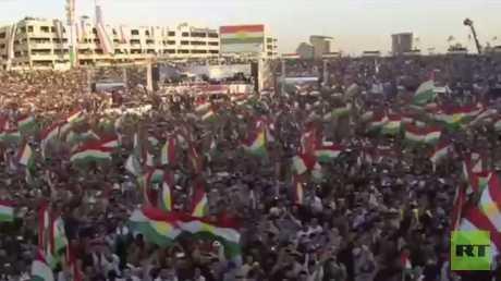 مظاهرات حاشدة في إقليم كردستان العراق