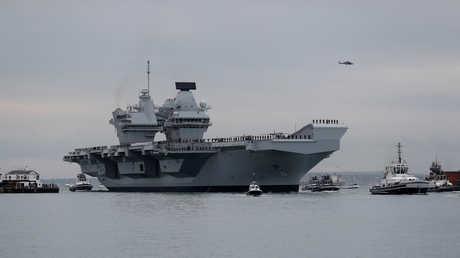 """حاملة الطائرات العملاقة الجديدة """"كوين إليزابيث الثانية""""، التابعة لقوات البحرية للمملكة المتحدة"""