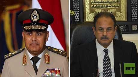 وزير الداخلية المصري، اللواء مجدي عبد الغفار، ووزير الدفاع المصري، الفريق أول صدقي صبحي