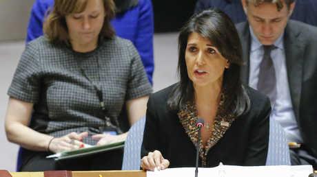 المندوبة الأمريكية الدائمة في الأمم المتحدة نيكي هايلي