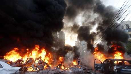 تفجير سيارة مفخخة في حارة حريك بضاحية بيروت الجنوبية، 2/1/2014