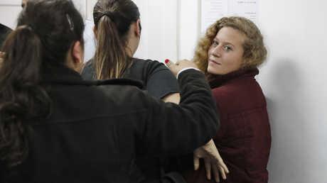 عهد التميمي في المحكمة الإسرائيلية