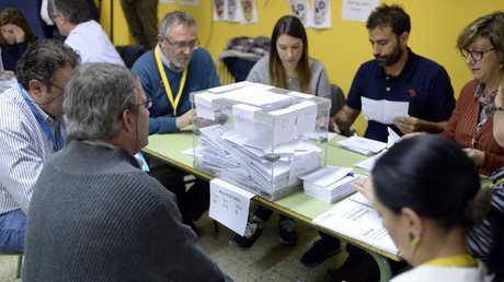 فرز الأصوات في انتخابات كتالونيا
