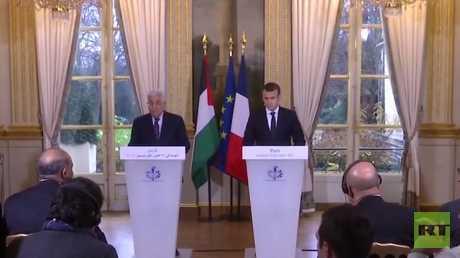 مؤتمر صحفي للرئيسين الفرنسي والفلسطيني