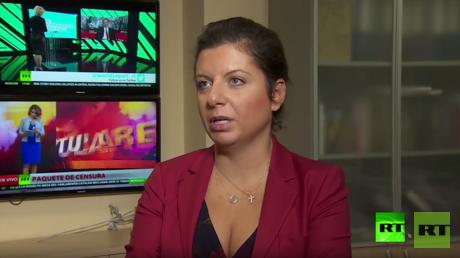 مارغاريتا سيمونيان رئيسة تحرير شبكة RT