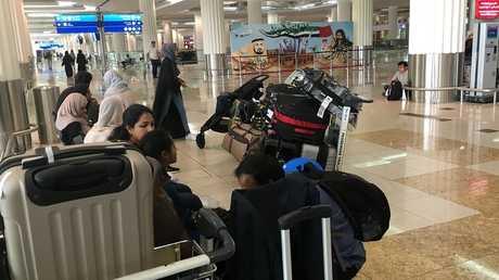 صالة استقبال المسافرين في مطار دبي الإمارات