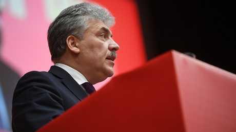 بافل غرودينين، المرشح للرئاسة الروسية عن الحزب الشيوعي