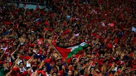 جماهير الأهلي المصري يهتفون لفلسطين