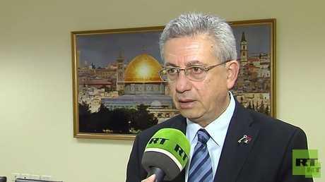 الأمين العام لحركة المبادرة الوطنية الفلسطينية، مصطفى البرغوثي (صورة أرشيفية)