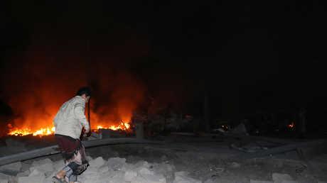 تداعيات غارة جوية في اليمن