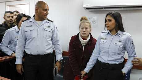 عهد التميمي في محكمة إسرائيلية