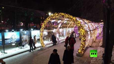 موسكو تستعد لعيد رأس السنة.. لقطات مذهلة