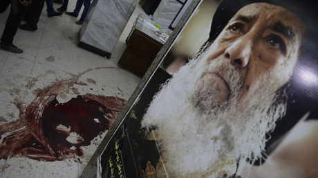 موقع الهجوم على كنيسةمارمينا في مدينة حلوان المصرية