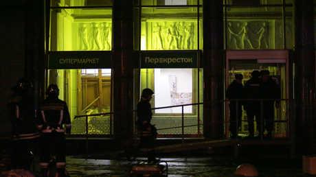 موقع التفجير في سان بطرسبورغ